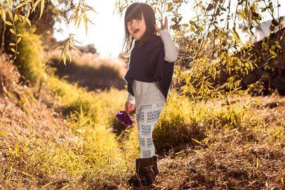 Mockup of a Little Girl Wearing Leggings Outdoors 23936