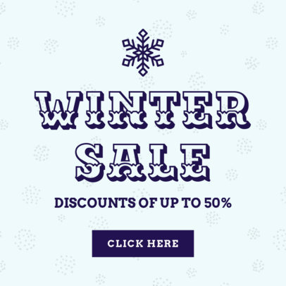 Holiday Banner Creator for a Winter Sale 780a