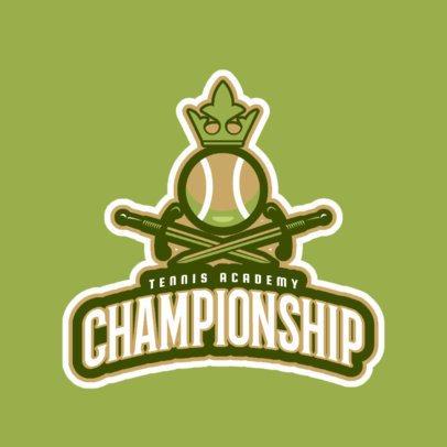 Tennis Logo Online Maker for a Tennis Academy 1600c
