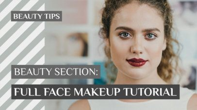 Trendy YouTube Thumbnail Template for Beauty and Skincare Vloggers 934c