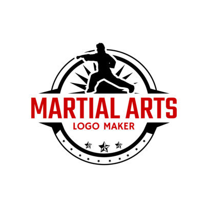 Martial Arts Logo Maker with Karate Clipart 1607