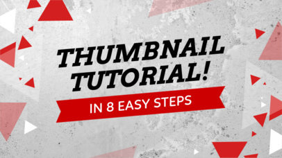 YouTube Thumbnail Maker with Triangle Graphics 933c