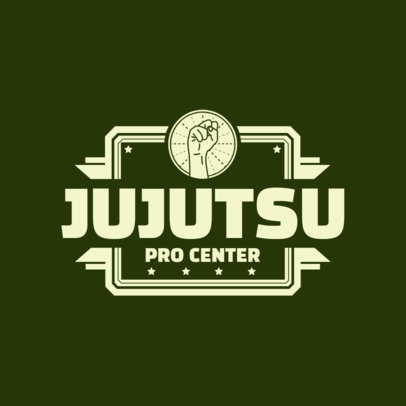 Martial Arts Logo Design Maker for Jujutsu Pro Center 1607e