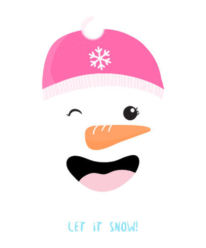 Holiday T-Shirt Design Template Featuring a Laughing Snowman 826e