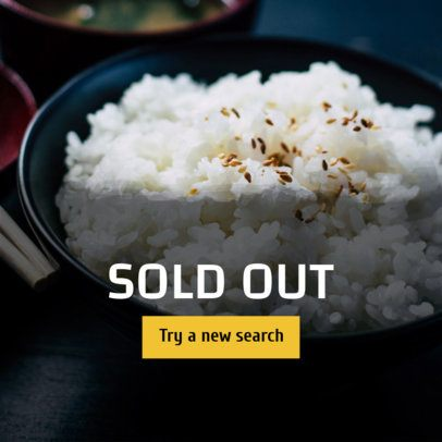Banner Design Template for a Sold Out Food Item 364f