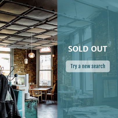 Banner Maker for a Sold Out Search 534f