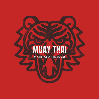 MMA Logo Maker for Muay Thai Classes 1608b