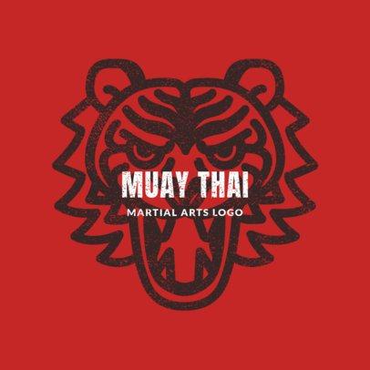 MMA Logo Maker for Muay Thai Classes 1608b