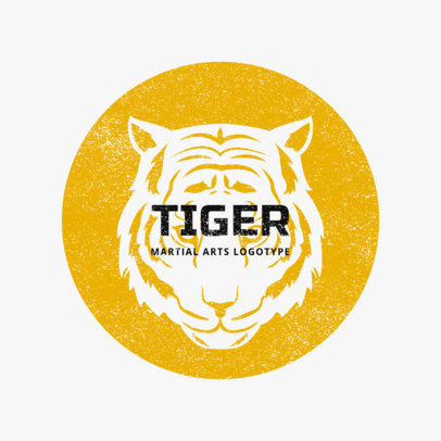 MMA Logo Maker with Tiger Illustrations 1608e