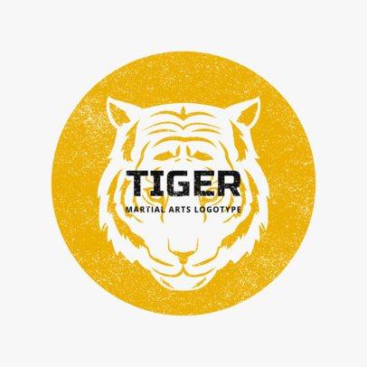 MMA Logo Maker with Tiger Illustrations 1608e