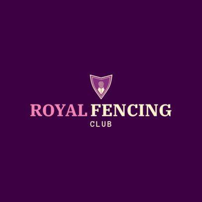 Fencing Logo Design Template for Foil Fencing 1611a