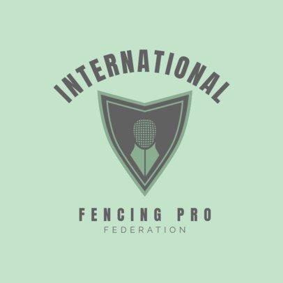International Fencing Logo Maker 1614d