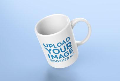 Mockup of a Coffee Mug Leaning Subtly Towards the Left 24489