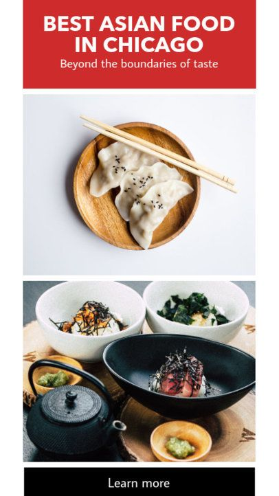 Instagram Story Maker for an Asian Food Place 941b