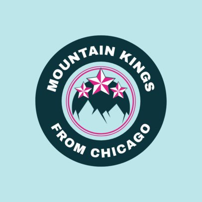 Hockey Logo Creator with Mountains Clipart 1561a
