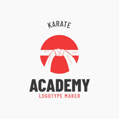 Simple Martial Arts Logo Maker for a Karate Academy 1609a