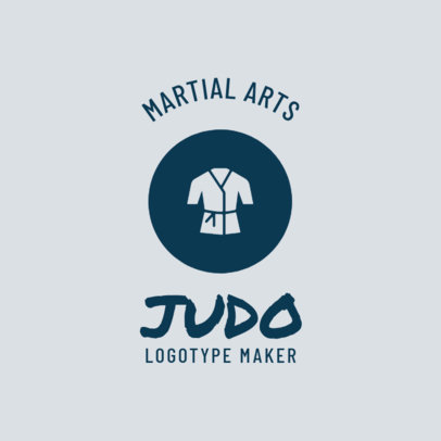 Martial Arts Logo Maker for Judo Classes 1609c