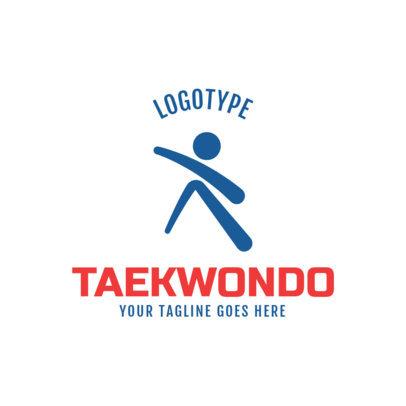 Martial Arts Logo Maker for a Taekwondo Academy 1609e
