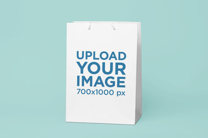 Gift Bag Mockup Featuring a Solid Background 24056
