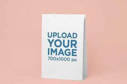 Mockup of a Gift Bag Standing on a Solid Surface 24053