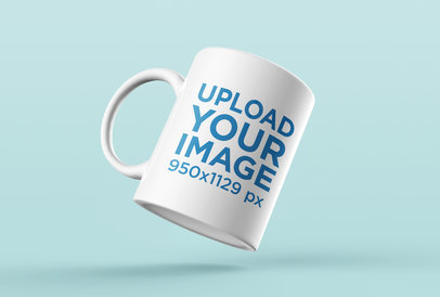 Mockup of a Coffee Mug Floating Mid-Air 24491