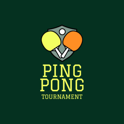 Table Tennis Logo Creator for a Ping-Pong Tournament 1623a