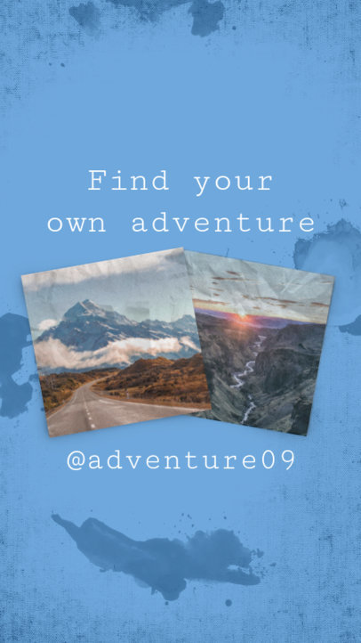 Instagram Story Template for Adventure Travel Blogs 971d
