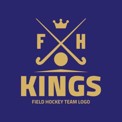 Field Hockey Team Logo Maker 1621a