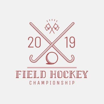Field Hockey Logo Template 1621d