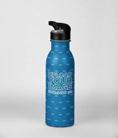 Aluminum Bottle Mockup 24443