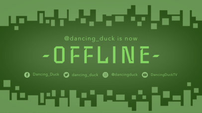 Twitch Offline Banner Maker with a Geometric Background with Square 975c