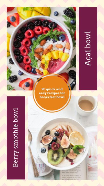 Instagram Story Template for Breakfast Recipes 970c