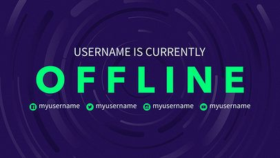 Twitch Offline Banner Maker For an Offline User with Simple Background 977