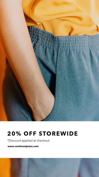 Insta Story Template for a Clothing Brand Sale 969a