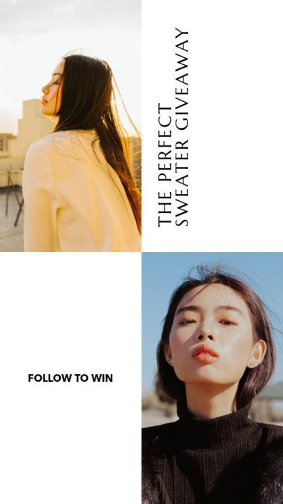 Insta Story Template for a Clothing Giveaway 969c