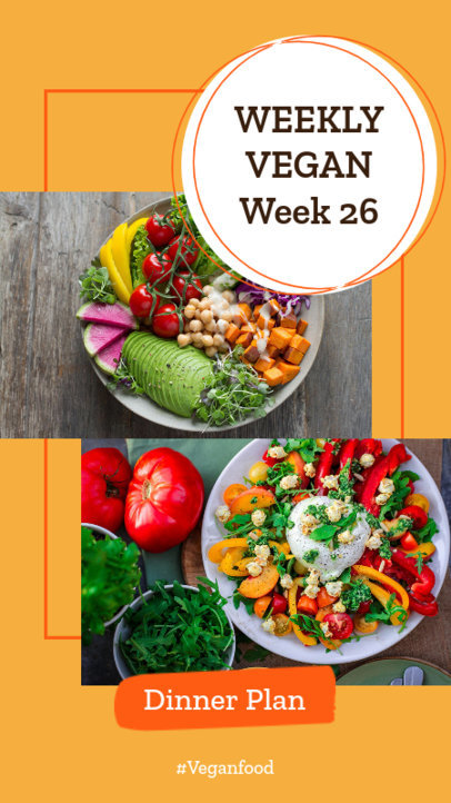 Insta Story Template for a Vegan Food Plan 858a