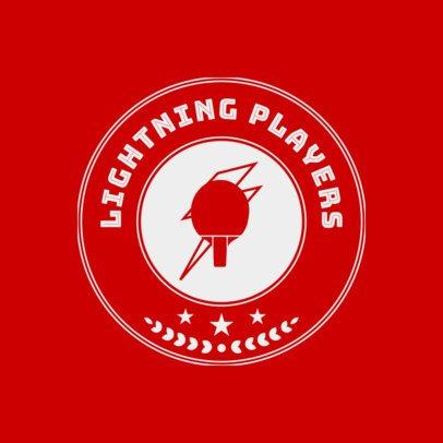 Table Tennis Logo Maker with Circular Badge 1627b