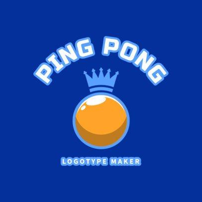 Ping-Pong Logo Maker with Golden Ball 1624c