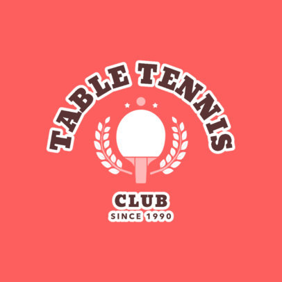 Table Tennis Logo Template for a Table Tennis Club 1624b