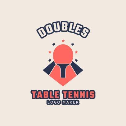 Table Tennis Logo Maker 1624d