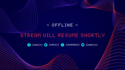 Twitch Offline Banner Creator with Curved Lines Vector 980c
