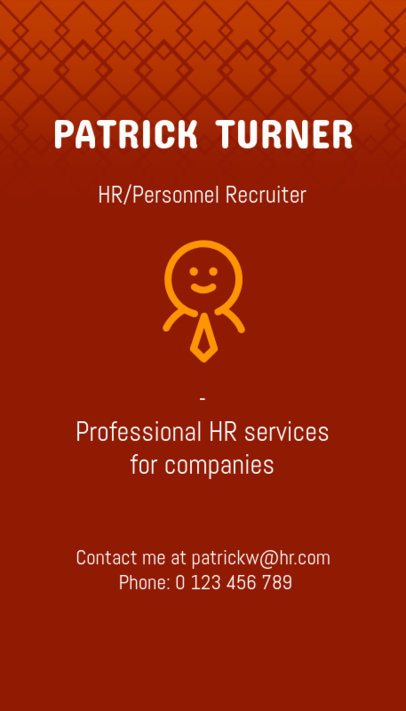 Vertical Business Card Template for an HR Recruitment Agency 672