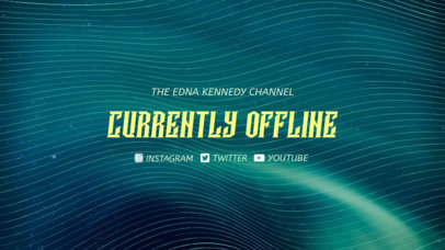 Twitch Offline Banner Maker with a Space Background with Lines 978e