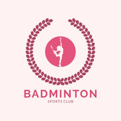 Badminton Logo Maker for a Women's Sports Club  1632e
