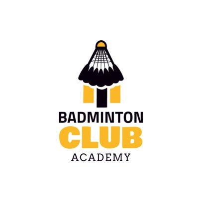 Simple Badminton Logo Maker 1629