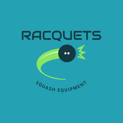 Squash Logo Design Template with Ball Clipart 1634c