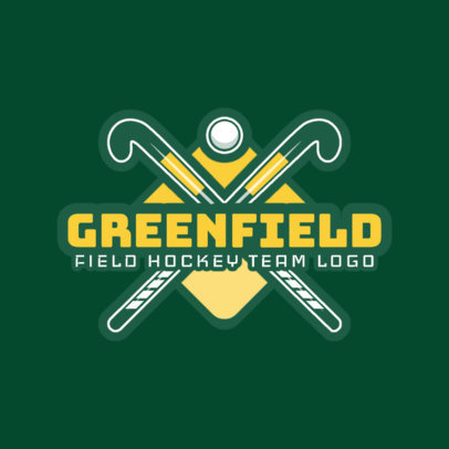 Field Hockey Logo Maker for a Field Hockey Team or Club 1622c