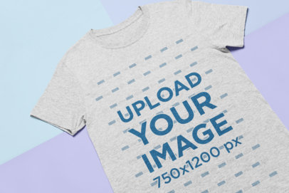 Tshirt Mockup over Colored Pasteboards 24739