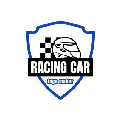 Racing Logo Maker with a Badge Clipart 1645