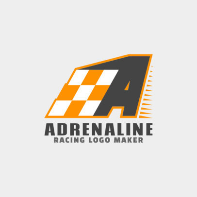 Racing Logo Design Template for Auto Racing Competitions 1644b